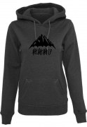 trick17 Girls Mountain Hoodie, charcoal melange